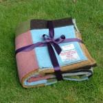 felted harris tweed picnic blanket summer brights