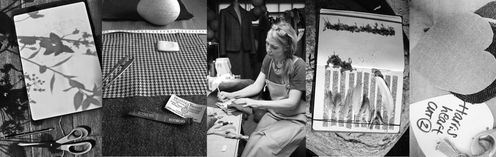Montage of Ruth working grayscale